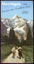Prospectus-Tourisme : MEIRINGEN, Suisse. Travel Ephemera (II)