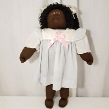 1985 Xavier Roberts Signed African American Little People Soft Sculpture Doll