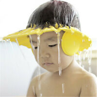 Adjustable Baby Shower Cap Baby Kids Children Bath Shampoo Shield Hat Wash Hair
