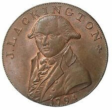 1794 Middlesex Lackingtons Cheapest Bookseller Halfpenny Conder Token D&H-353