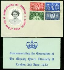 Edw1949Sell : Great Britain 1953 Coronation First Day Cover.