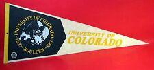 "Vintage Felt Pennant FLAG University Of Colorado Buffaloes - 30"""