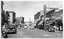 Photo. 1949-50. Nanaimo, BC Canada. Commercial Street - autos