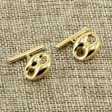AUTHENTIC GUCCI LINK & BAR CONNECTED WITH CHAIN CUFFLINKS 18K YELLOW GOLD