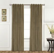 United Curtain Co. Dupioni Silk 95-Inch Rod Pocket Blackout Panel-Taupe