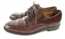 Cole Haan Mens Shoes 8.5 Brown Leather Oxford Lace Up Apron Split Toe 8 1/2