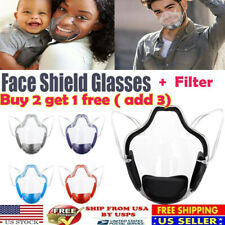 Reusable Clear Protective Mask Face Shield Plastic Half Face Cover Anti-fog Usa
