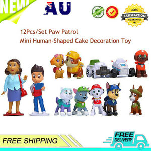 Paw Patrol Mini Figures Cake Toppers Kids Party Toy Cupcake Decoration 12Pcs/Set