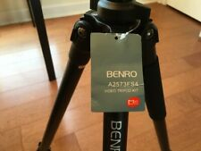 Benro Aero S4 fluid head video Tripod + Plate and carrying case and accessories!