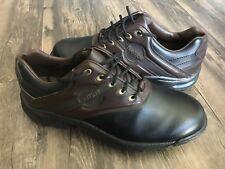 Footjoy Greenjoys Men's Size 10 M Black Brown Soft Spike GOLF Shoes EUC 45564