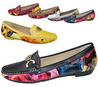 Womens Loafers Flat Casual Ladies Floral Summer Pumps Espadrilles Comfort Shoes