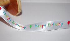 *** Feliz Cumpleaños-Cinta - 15 mm de anchura ***