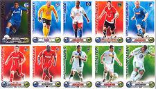 10 x TOPPS Match Attax 2009/2010 Konvolut OFFICIAL TRADING CARD GAME