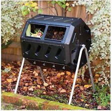 Compost Tumbler Bin Kitchen Composter Container Outdoor Backyard Garden Mulch