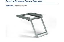 SCALETTA SALITA RETRATTILE ACCIAIO ZINCATO PER AUTOCARRO FURGONE TRATTORE