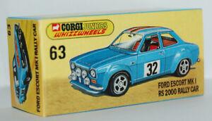 FICTITIOUS BOX ONLY CORGI JUNIORS 63 FORD ESCORT MK 1 RALLY CAR