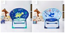 Childrens Folding Moon Chair Fold Up Seat Seating Kids Bedroom 54 x 47cm