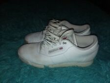 WOMENS REEBOK PRINCESS WHITE LEATHER ATHLETIC TENNIS SHOES SNEAKERS Size 9
