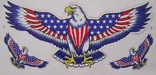 GRAND AUTOCOLLANT STICKER TUNING AIGLE ROYAL USA DIMENSIONS 34 X 15 CMS