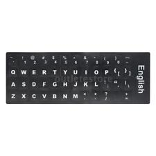 English QWERTY Replacement Keyboard Sticker with Big Letters Non-Transparent