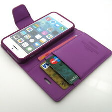 Slim Flip Leather Wallet Case Cover Card Slot Pocket Silicone For iPhone Lot