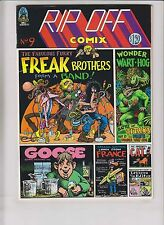 Rip Off Comix #9 VF- (1st) print freak brothers GILBERT SHELTON wonder warthog