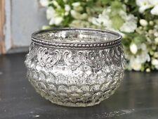 Chic Antique Teelichtglas Vase Windlicht Bauernsilber Shabby Nostalgie Nr.1