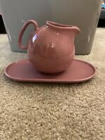 Waechtersbach West Germany Spain Pink Ceramic Pitcher and Tray RARE