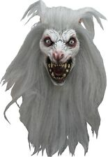Halloween Costume WHITE MOON WOLF Horror High-Quality Latex Deluxe Mask
