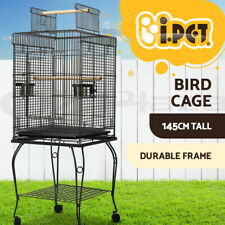 i.Pet Bird Cage Pet Cages Aviary 145CM Large Travel Stand Budgie Parrot Toys