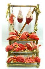 Banco con Carne in Cera - Cm 20x24x40 - Macellaio Beccheria Presepe
