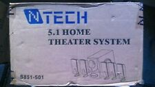 N-Tech 5.1 Home Theatre System Speakers 501 & Sub-Woofer
