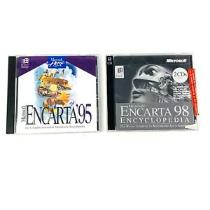 Microsoft Encarta Vintage '95 & Microsoft Encarta '98 PC CD ROM Educational