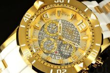 Invicta Pro Diver Gen III Deep Gold Tone Chrono Dial GoldPlated White Poly Watch