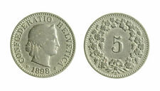 s291_53) Svizzera 5 Rappen 1898  KM# 26