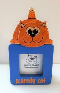 Collectable Scaredy Cat picture frame. New