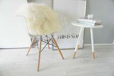 Luxury Genuine Natural Icelandic Sheepskin Cushion Pillow Soft White Long Hair