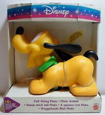Mattel Disney Vtg 90's Pull Along Pluto # 66080-91 Unused Sealed European Ver.