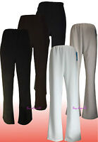 New Ladies Ribbed Bootleg STRETCH Work Trousers Pants UK Plus Sizes 16 to 24