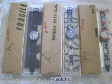 Swatch ARTIST SET OF 3 in PLEXIGLASS! Tempo Libero, Moonchild & Roboboy! X-RARE!