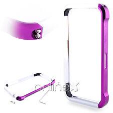 Bumper Aluminio Vapor 4 para iPhone 4S Colores Fucsia y Plata en Caja a558