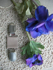 Gypsy Leather Clip~Clothes/Dress/Scarf~Beige Pearl /70 Colour + Magnolia~OSFA~BN
