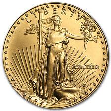 1989 1 oz Gold American Eagle BU (MCMLXXXIX) - SKU #7671