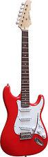 E-Gitarre ST5 rot, Massivholzkörper, Top Auswahl, mit Anschlußkabel, by MSA!n