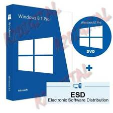 WINDOWS 8.1 PRO ESD mit Klebstoff DVD SEVEN Original MICROSOFT COMPUTER NOTEBOOK