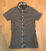 Men's Armani Jeans AJ Polo T Shirt In Khaki Brown Size Medium M