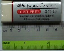 8x Faber Castell Dust-Free Eraser (62mm long and super clean erase!)