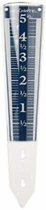 AcuRite 00850A2 5-Inch Capacity Easy-Read Magnifying Rain Gauge, Blue,12.5-inch