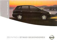 Prospekt / Brochure Nissan Almera Tino Fresh 11/2002