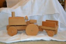 Wooden Toy Tractor Take-Apart by Sunflower Workshops Circa 1977 Plain/No Finish